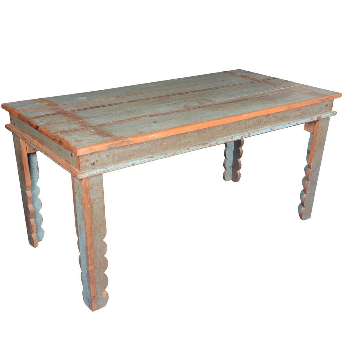 Appalachian rustic distressed reclaimed wood pastel for Repurposed kitchen table