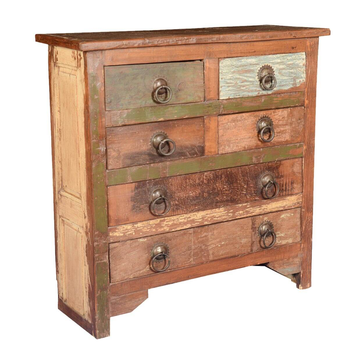 Rustic farmhouse reclaimed wood drawer standard vertical