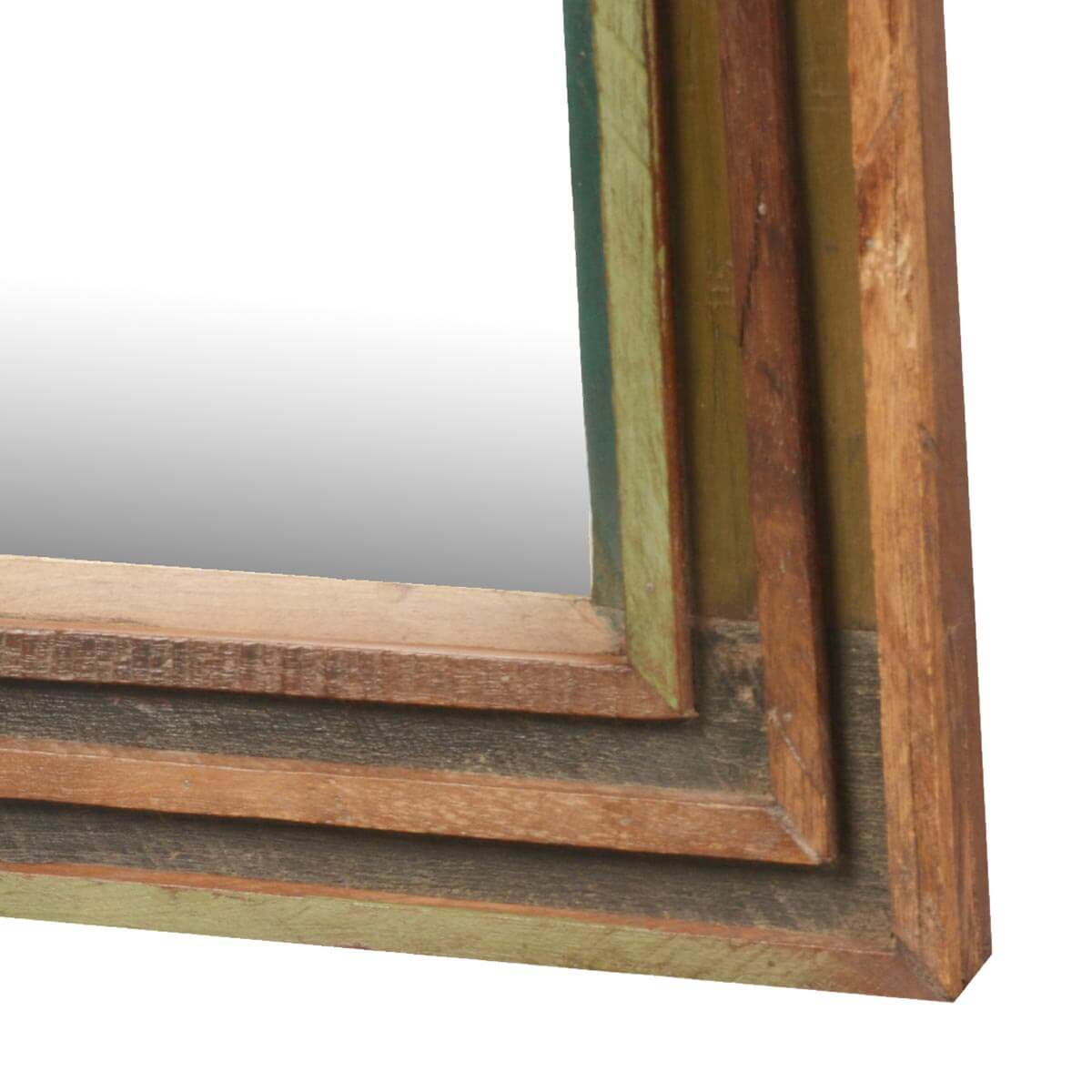 Appalachian rustic reclaimed wood 12 5 square framed wall for Rustic mirror