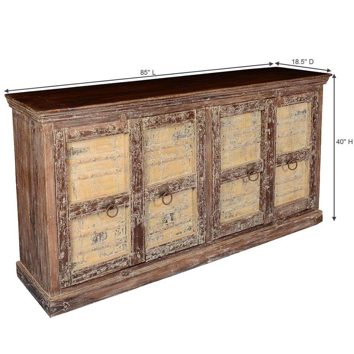 Gothic Dreams Reclaimed Wood 85quot Sideboard Cabinet : 64064 from www.sierralivingconcepts.com size 1200 x 1200 jpeg 97kB