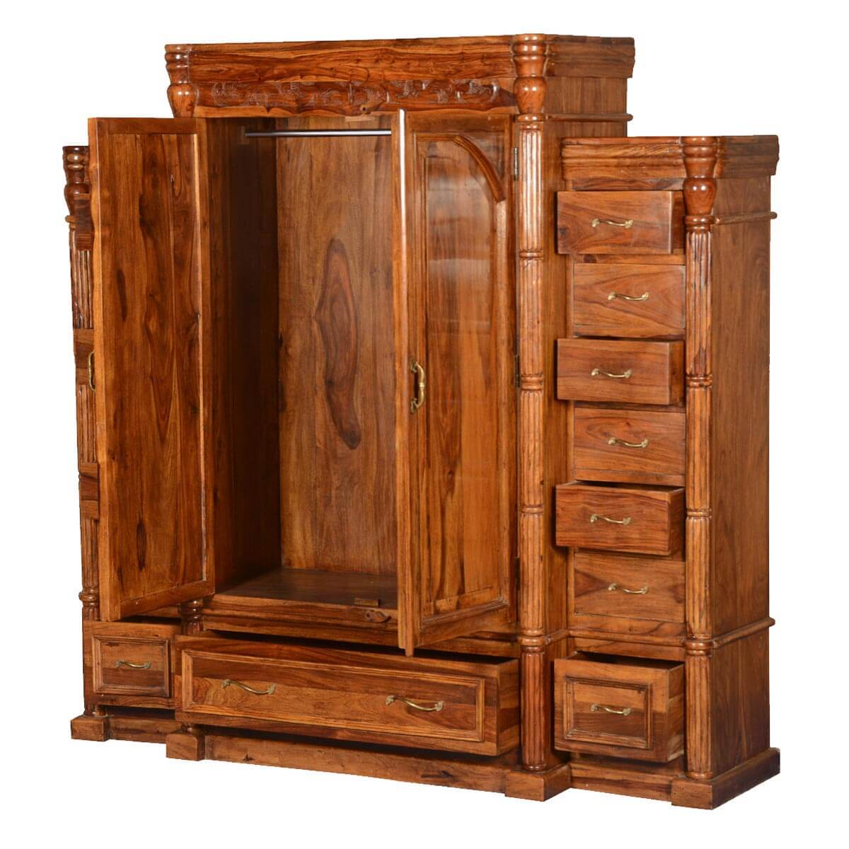 royal elizabethan solid wood 15 drawer wardrobe armoire. Black Bedroom Furniture Sets. Home Design Ideas