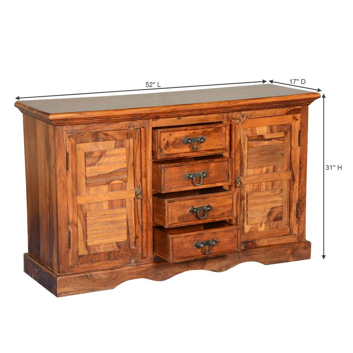 Appalachian door solid wood drawer credenza