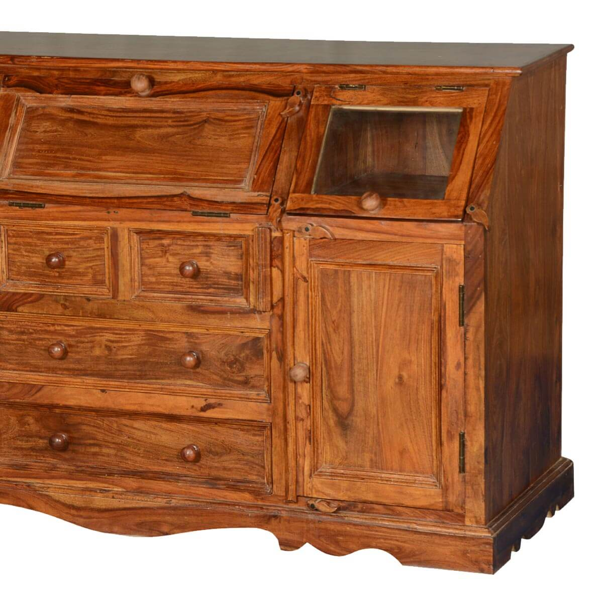 Unfinished Wood Sideboard ~ Clarington solid wood sideboard credenza with drawers