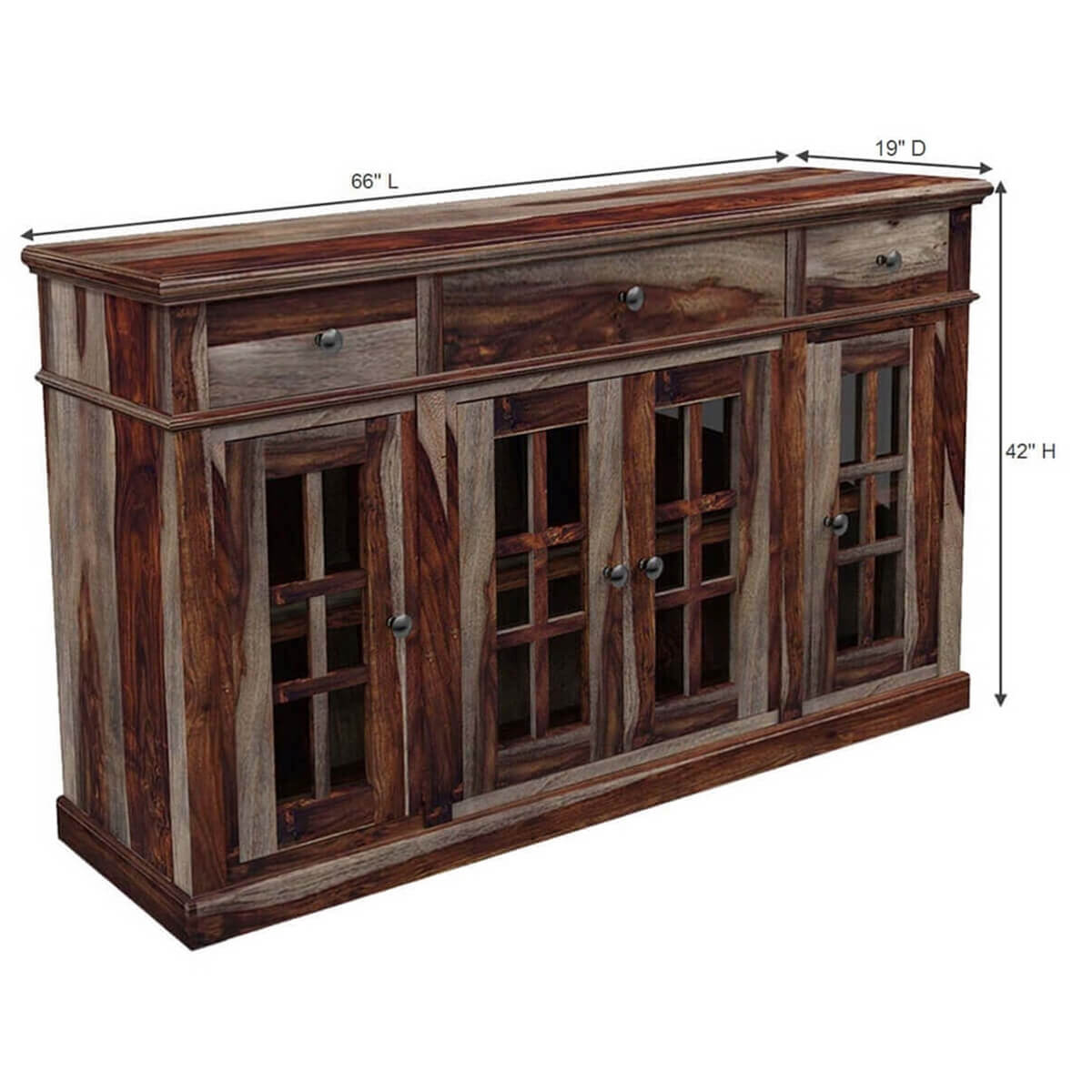 Texas Solid Wood Rustic Sideboard Contemporary Espresso Buffet EBay. Full resolution  picture, nominally Width 1200 Height 1200 pixels, picture with #AA8721.