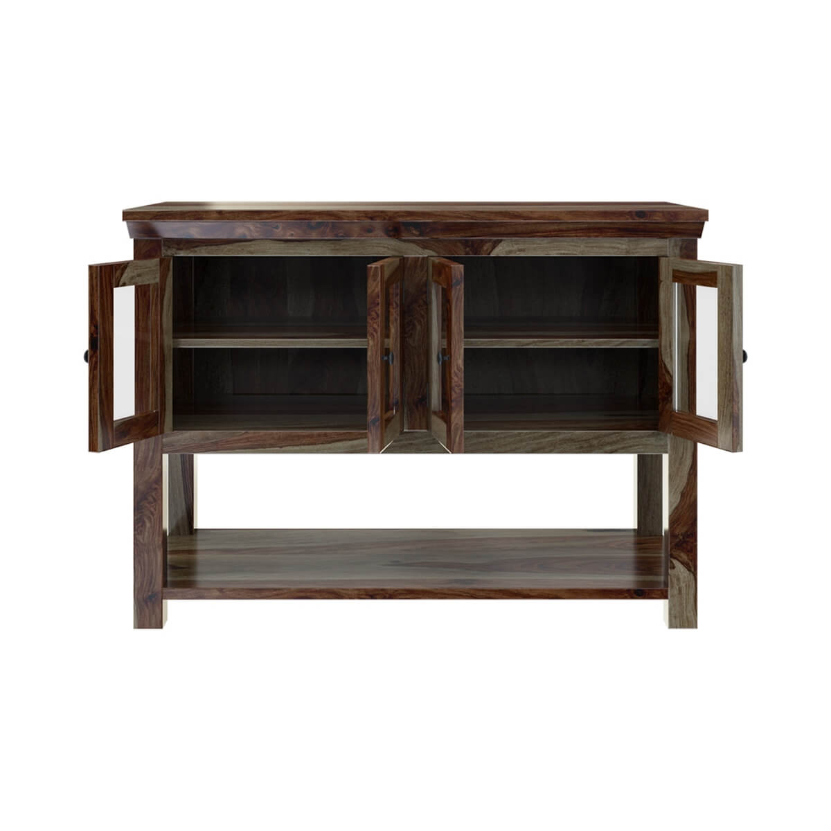 Modern rustic sierra solid wood dining buffet table