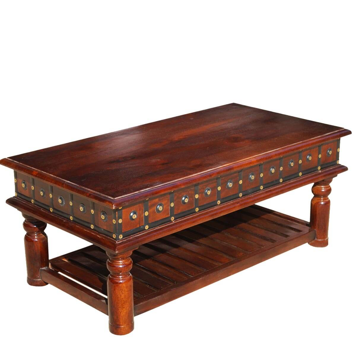 home heritage furniture colonial dutch mango wood 2 tier coffee table
