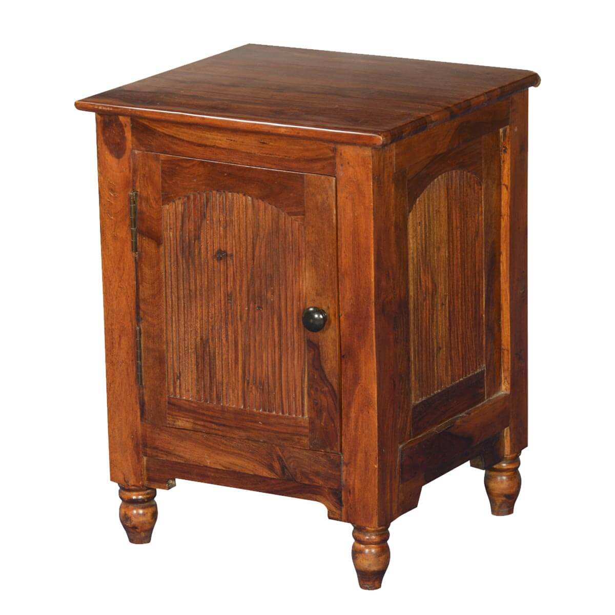 rustic empire solid wood nightstand end table cabinet. Black Bedroom Furniture Sets. Home Design Ideas