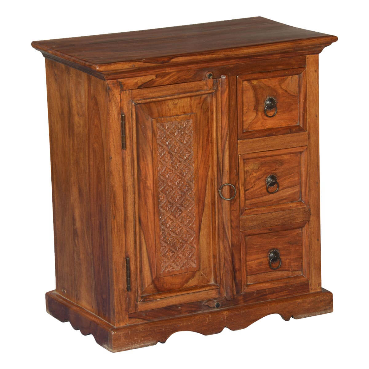 Marvelous photograph of  & Rack Dutch Colonial Solid Wood Small Cabinet Chest w 3 Drawers with #B28C19 color and 1200x1200 pixels