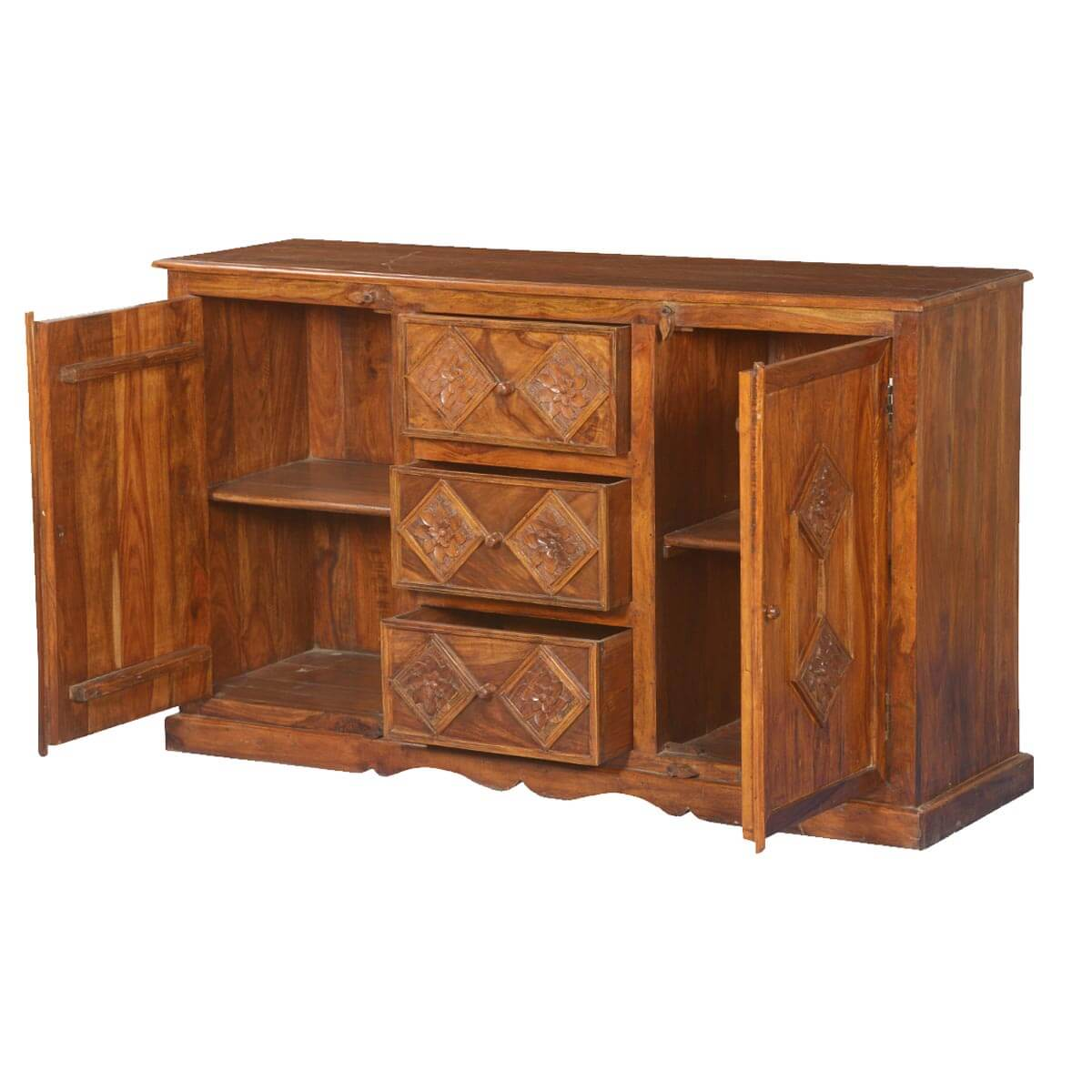 Diamond rose solid wood drawer sideboard