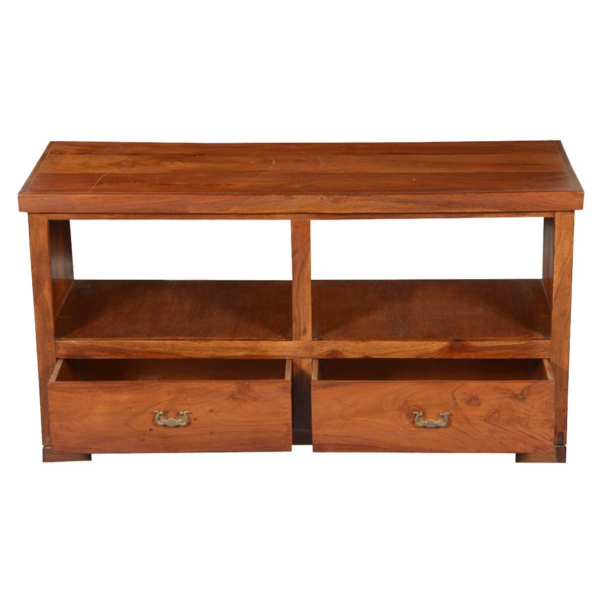 Artisan Collection Rustic Mission Solid Wood Tv Cabinet Media Island