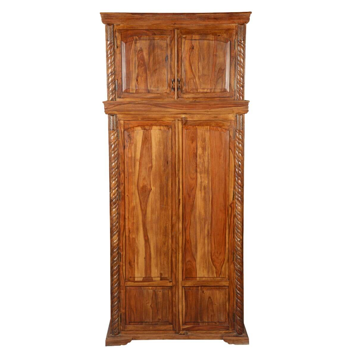 empire classic solid wood wardrobe cabinet armoire. Black Bedroom Furniture Sets. Home Design Ideas