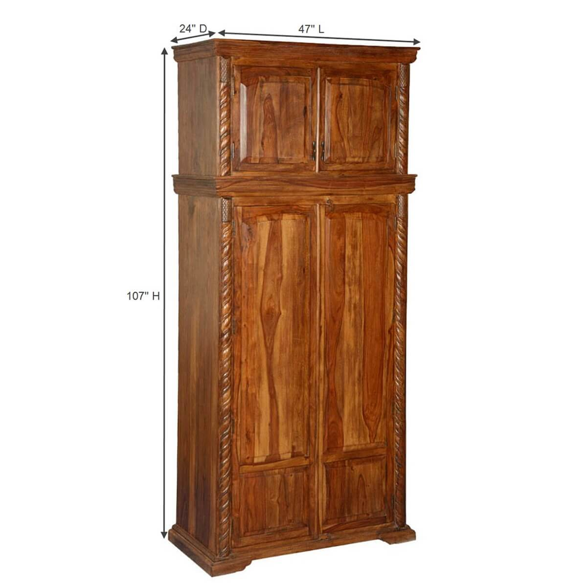 Wooden Wardrobe Cabinet ~ Empire classic solid wood wardrobe cabinet armoire