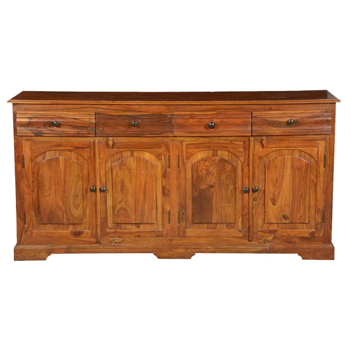 Unfinished Wood Sideboard ~ Early american solid wood drawer sideboard