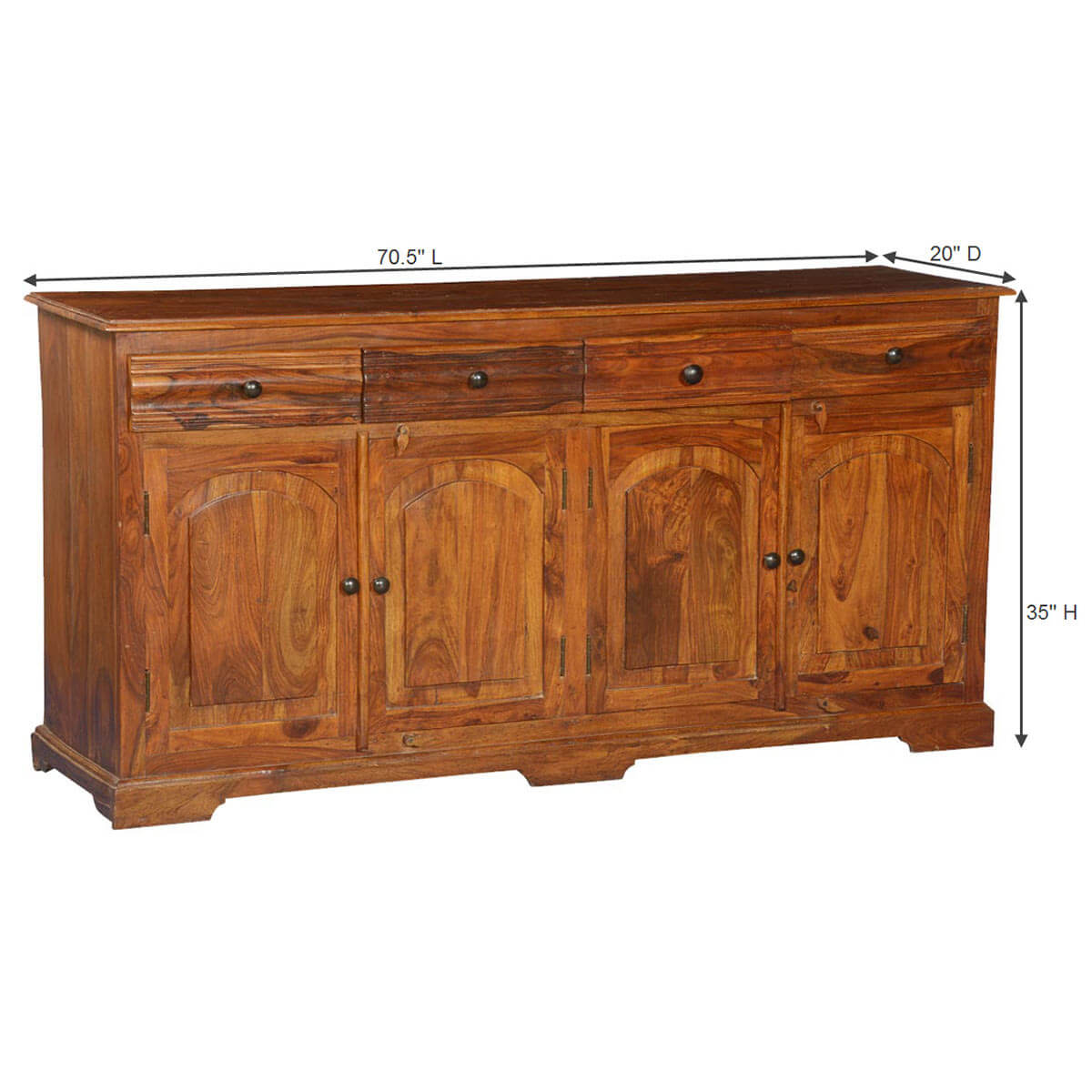 Early american solid wood drawer sideboard