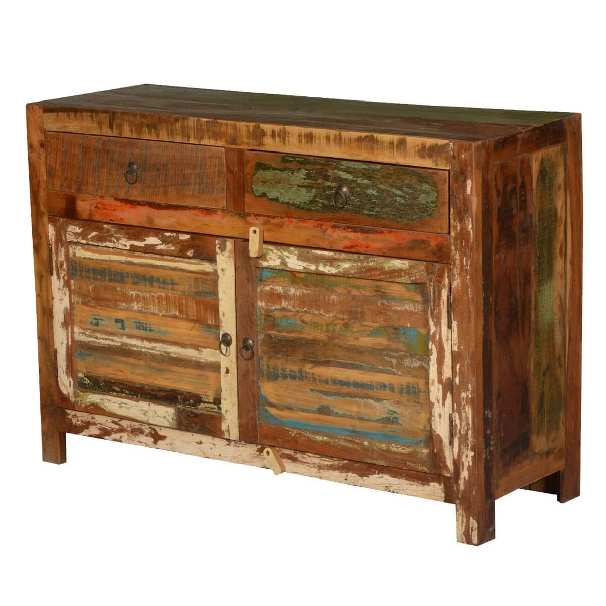 Reclaimed Wooden Buffets ~ Jerome rustic reclaimed wood drawer buffet cabinet
