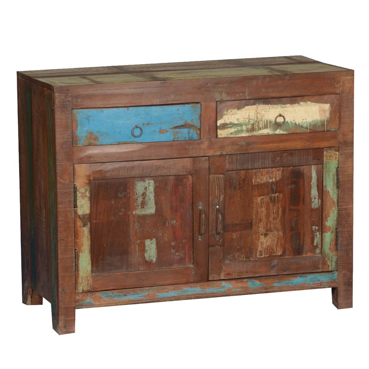 Collection Frontier Rustic Paint Patches Reclaimed Wood Buffet Cabinet. Full resolution  portrait, nominally Width 1200 Height 1200 pixels, portrait with #B28C19.