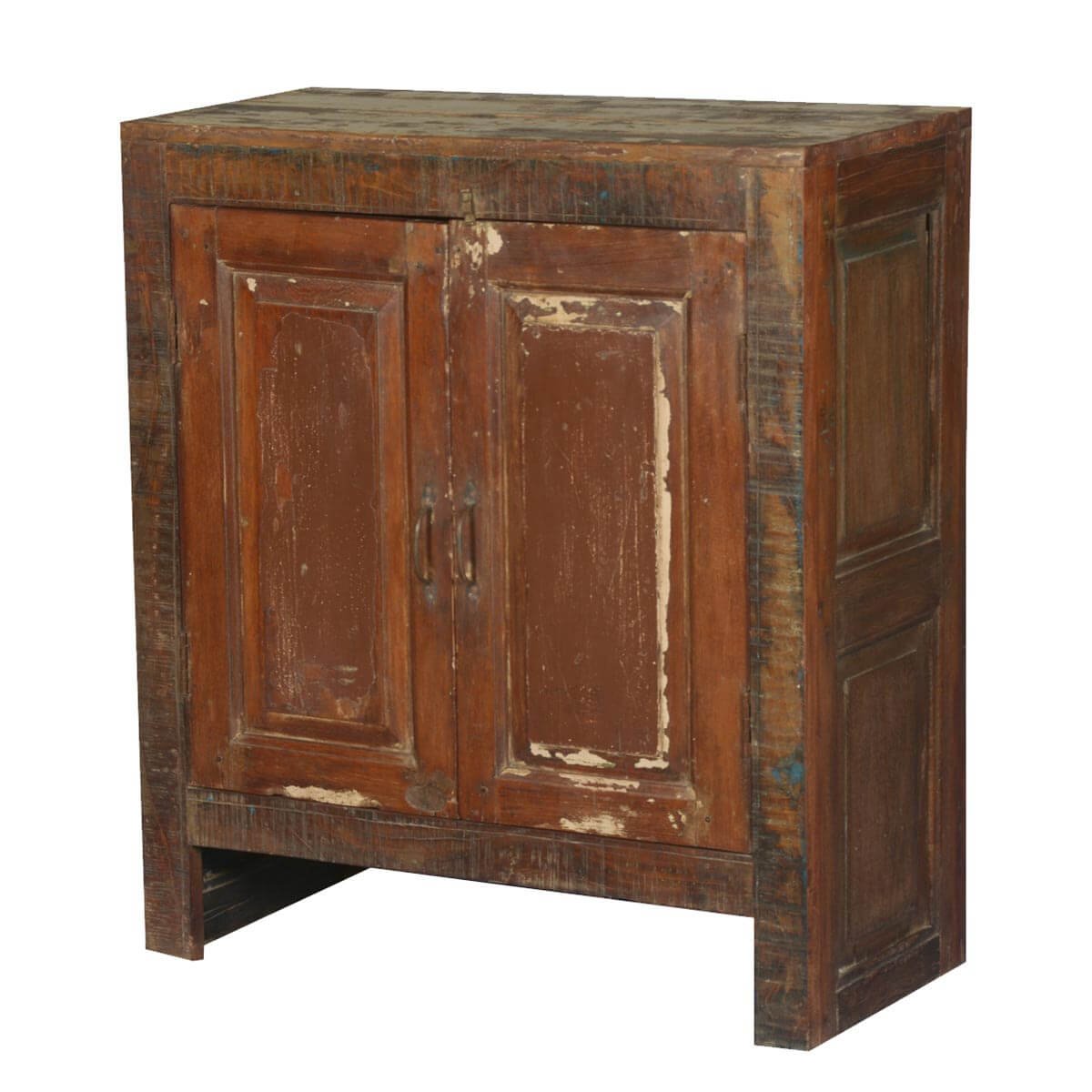 Ancient Wooden Cabinet ~ Old chicago distressed mango wood freestanding cabinet