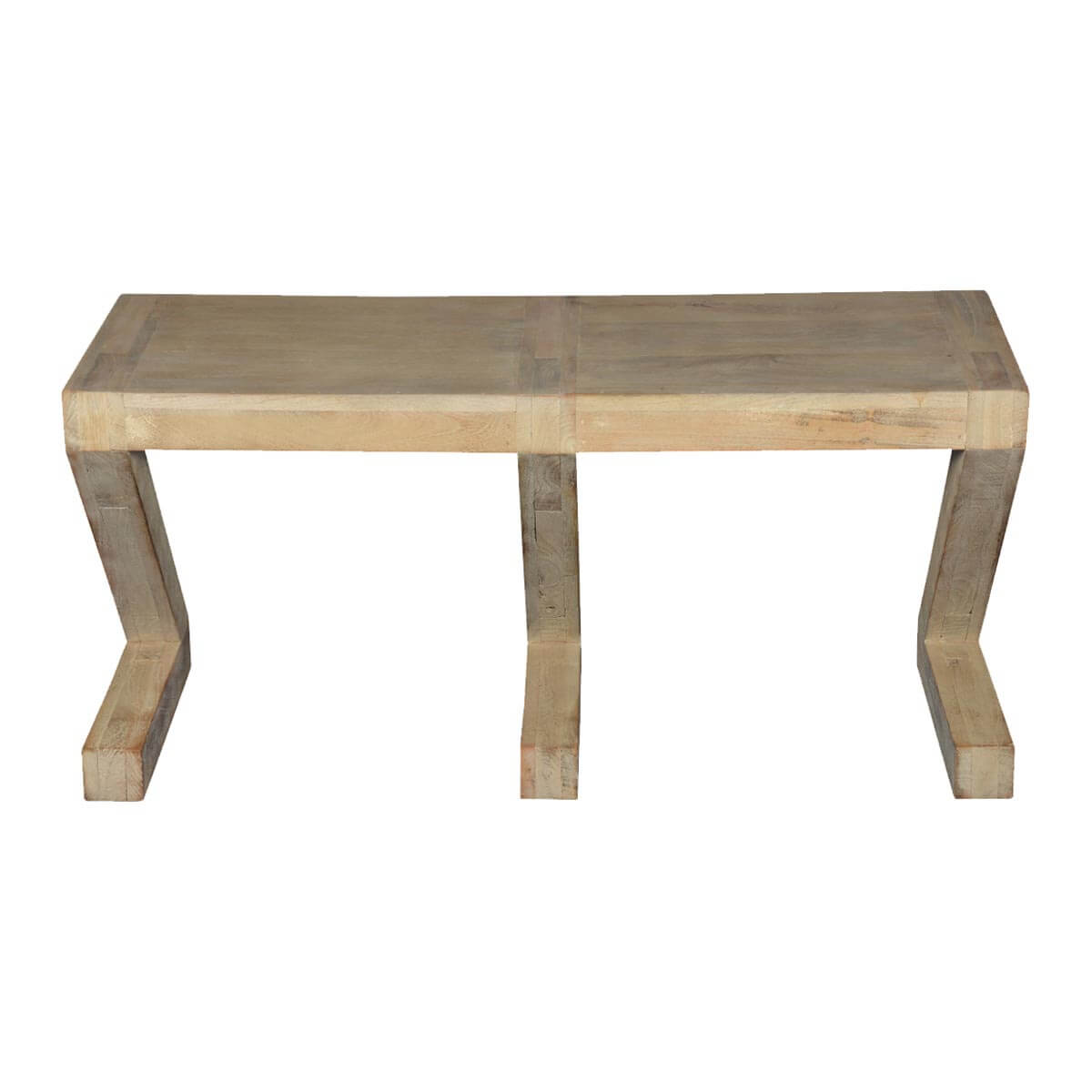 Contemporary Frosted 3 Z Mango Wood Coffee Table