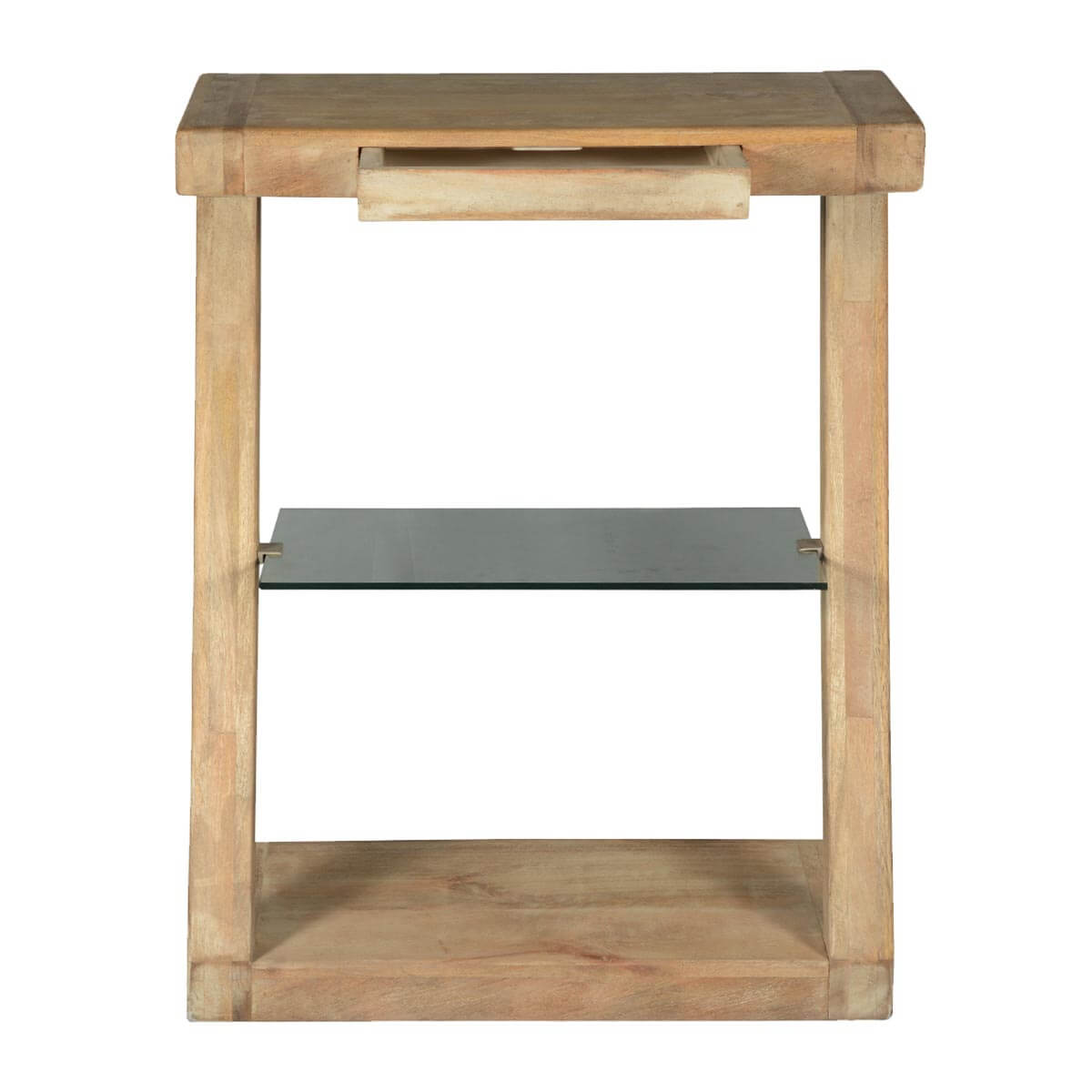 Very Impressive portraiture of  Night Stands Contemporary Frosted Z Mango Wood Desk Artist Work Table with #AA8721 color and 1200x1200 pixels