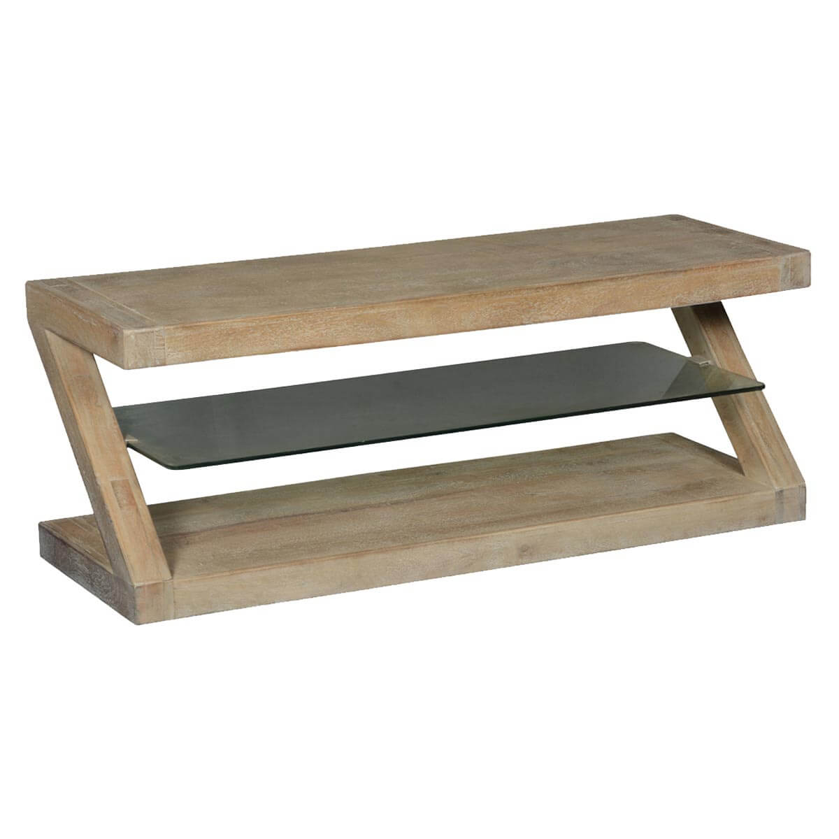 home artisan collection contemporary frosted z mango wood coffee table