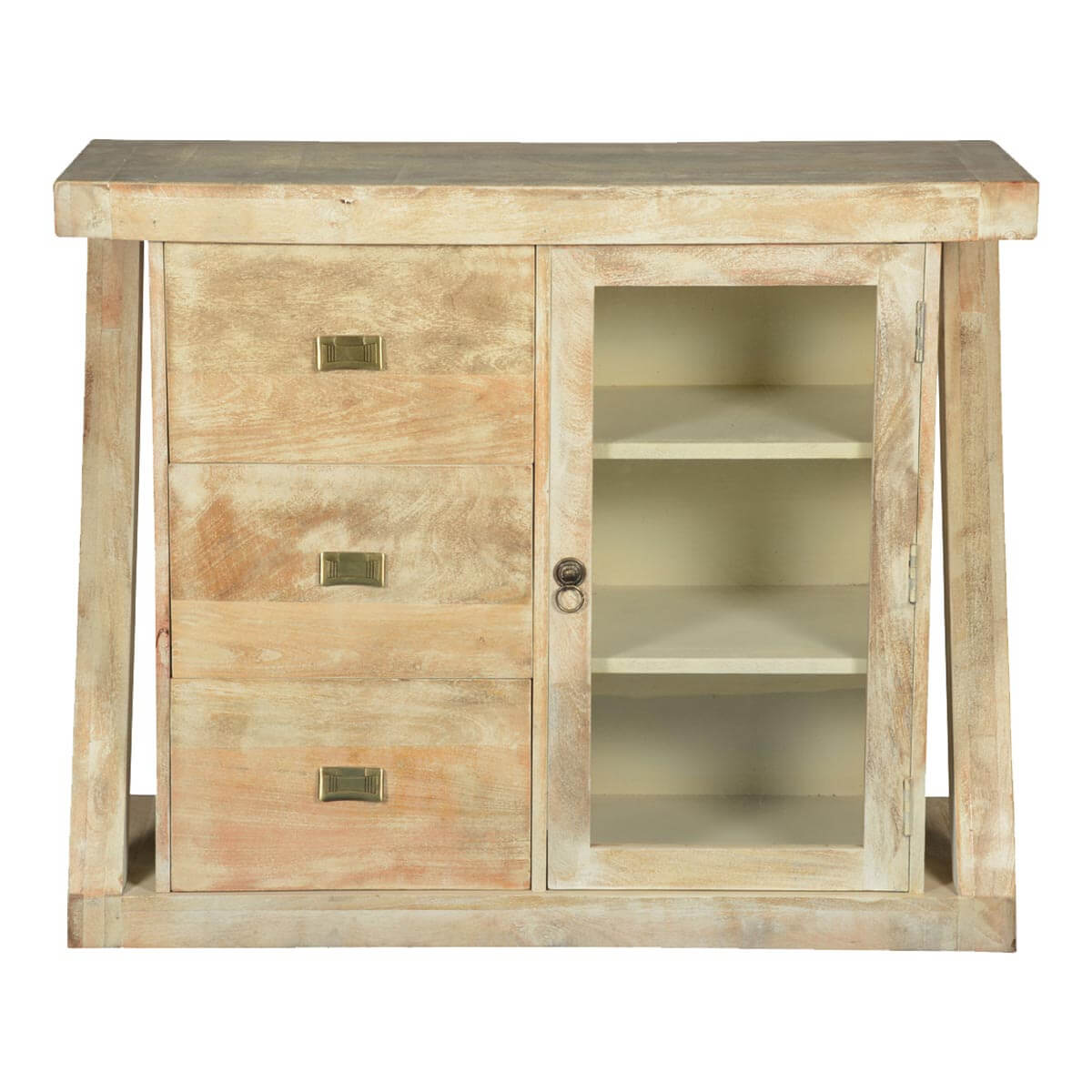 Contemporary Frosted Z Mango Wood Freestanding Buffet Cabinet. Full resolution  picture, nominally Width 1200 Height 1200 pixels, picture with #A47D27.