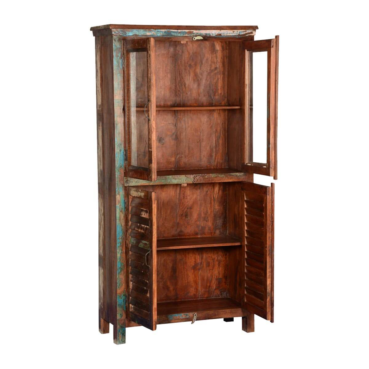 Rustic Farmhouse Reclaimed Wood Shutter Door amp Display Cabinet : 67236 from www.sierralivingconcepts.com size 1200 x 1200 jpeg 134kB