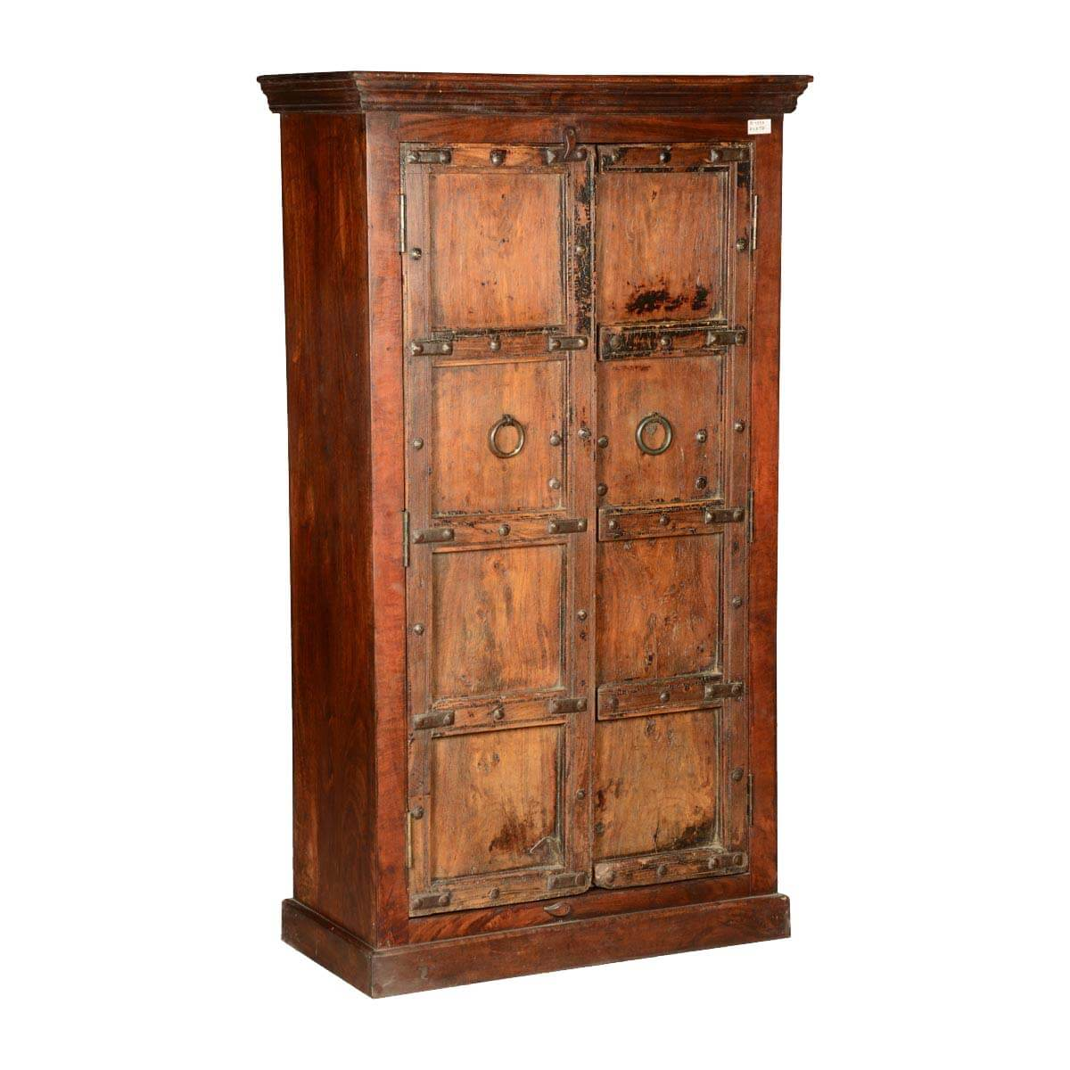 Wooden Wardrobe Cabinet ~ Rustic gothic traditions reclaimed wood wardrobe armoire