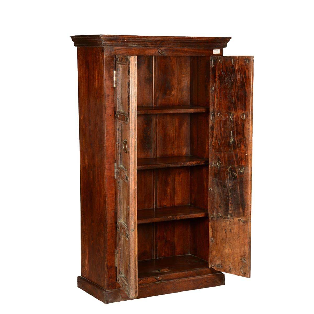 Rustic Gothic Traditions Reclaimed Wood Wardrobe Armoire ...