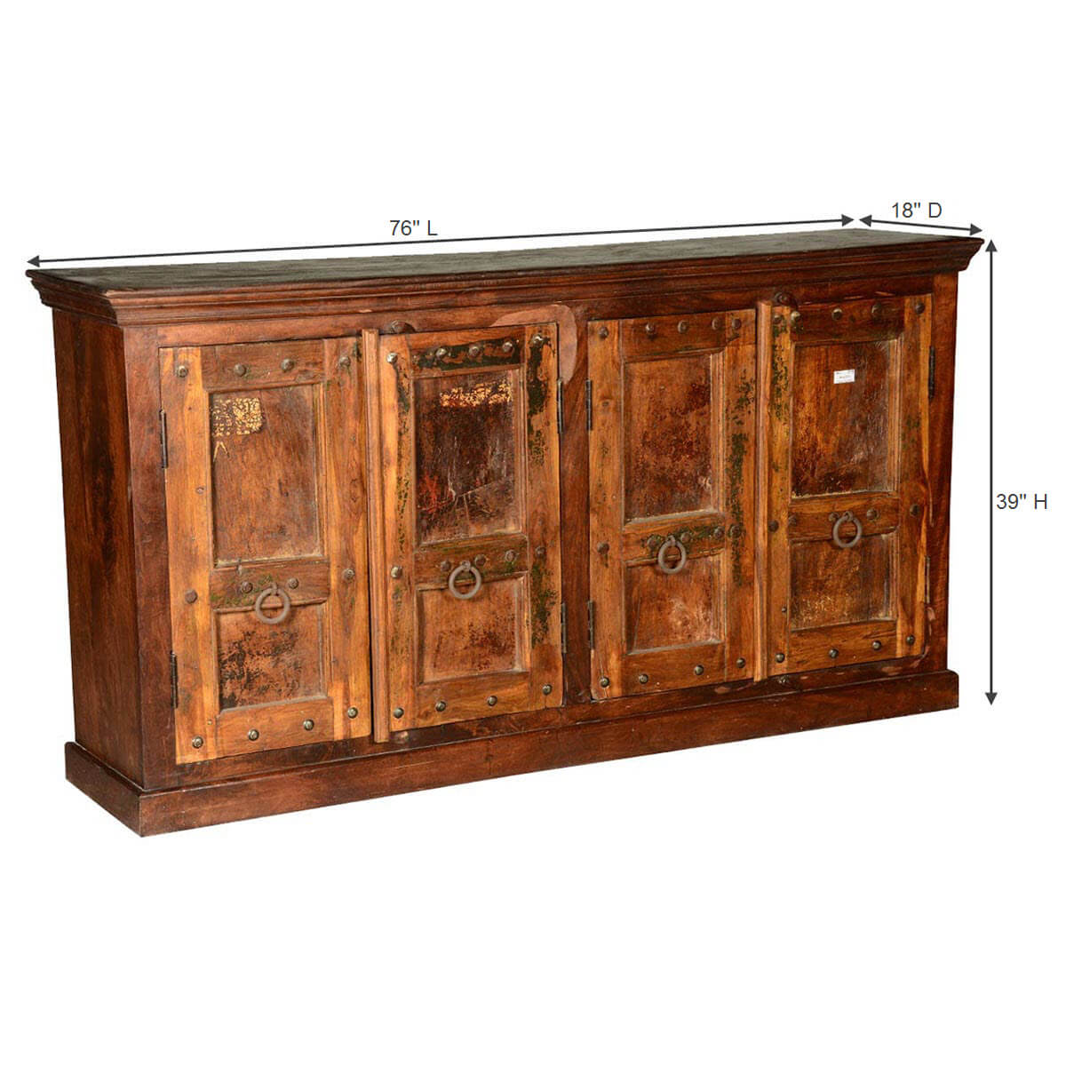 Rustic Gothic Traditions Reclaimed Wood Sideboard Cabinet : 68192 from www.sierralivingconcepts.com size 1200 x 1200 jpeg 185kB