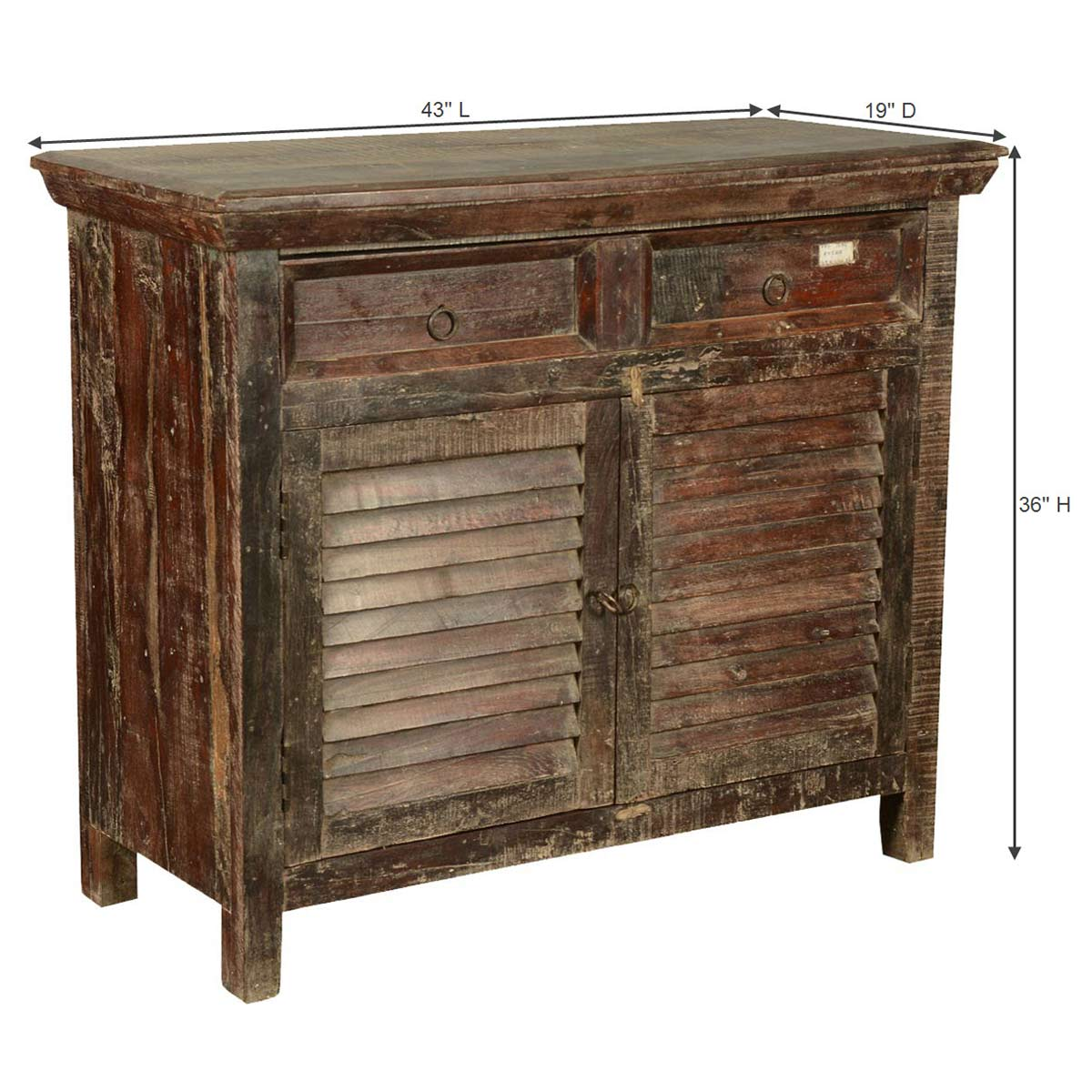 Rustic Foyer Chest : Redmond rustic reclaimed wood drawer hallway console cabinet