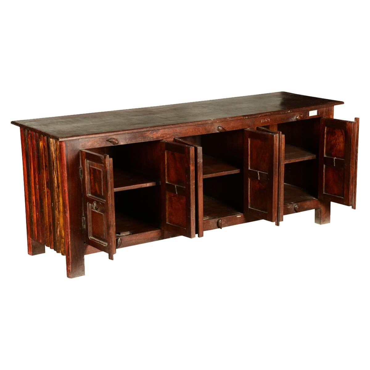 shaker rustic reclaimed wood 64 tv stand media console. Black Bedroom Furniture Sets. Home Design Ideas