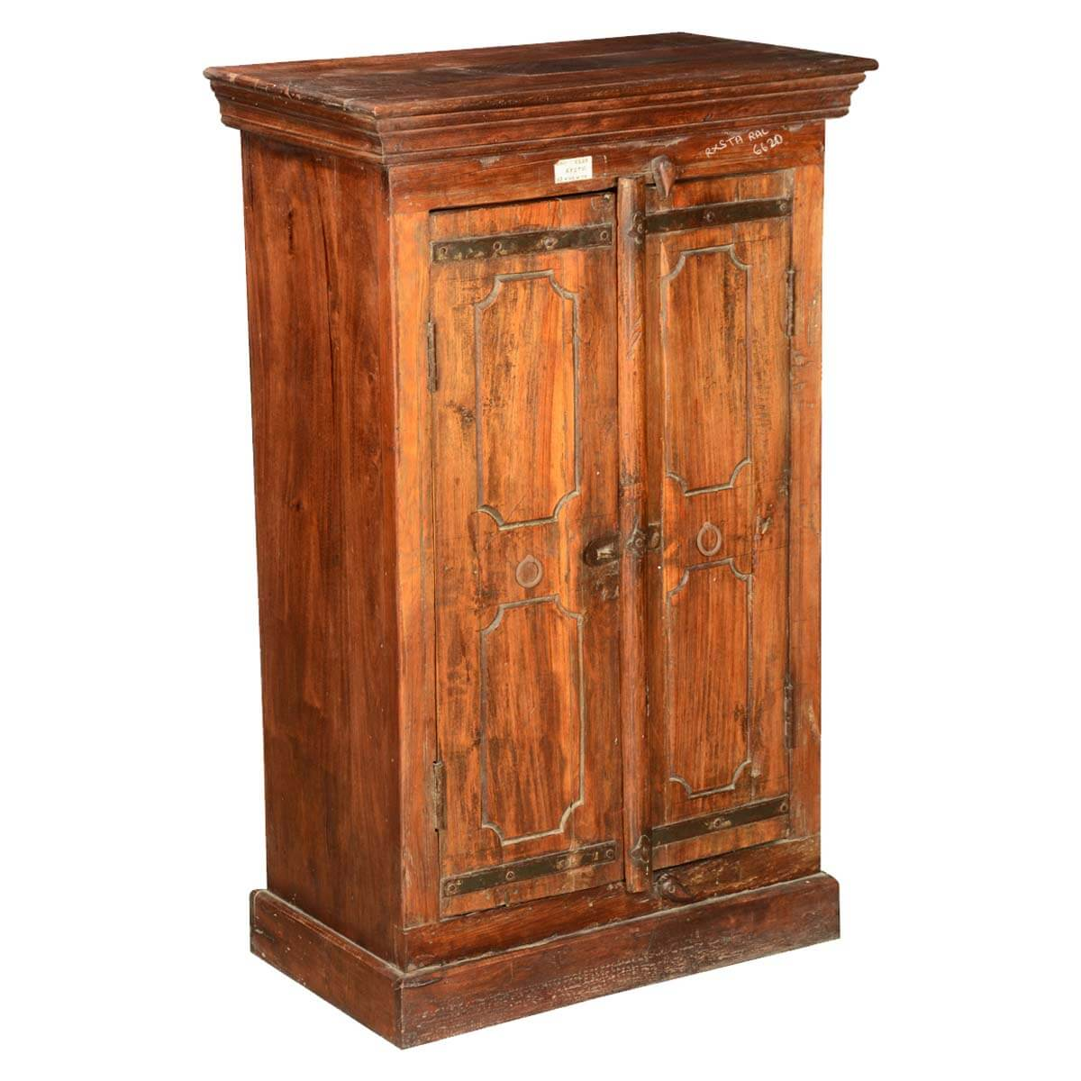 pennsylvania german reclaimed wood tall double door storage cabinet. Black Bedroom Furniture Sets. Home Design Ideas