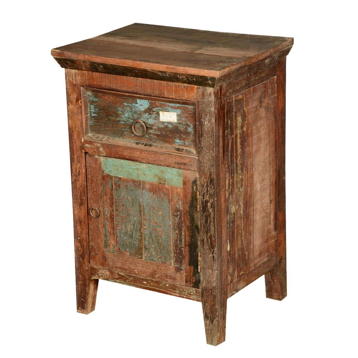 appalachian distressed reclaimed wood nightstand end table