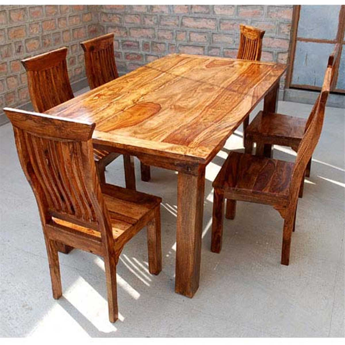 Rustic Ranch Furniture: Dallas Ranch Solid Wood Rustic Dining Table Chairs & Hutch Set