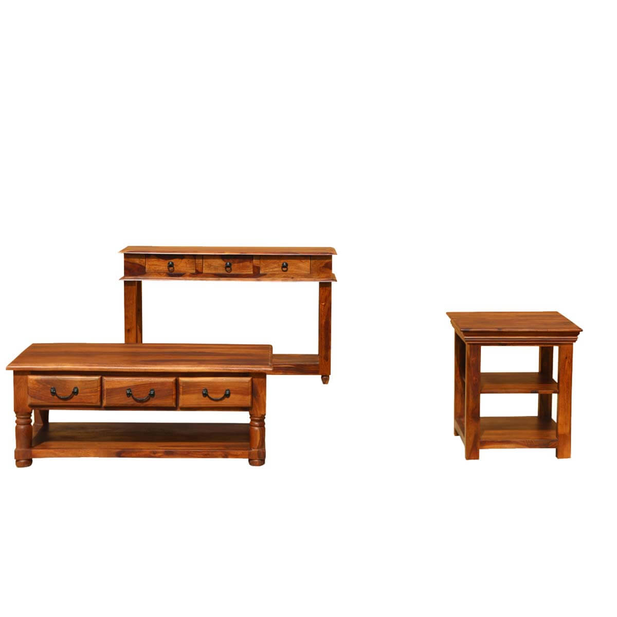 Early American Solid Wood Console Coffee Accent Table