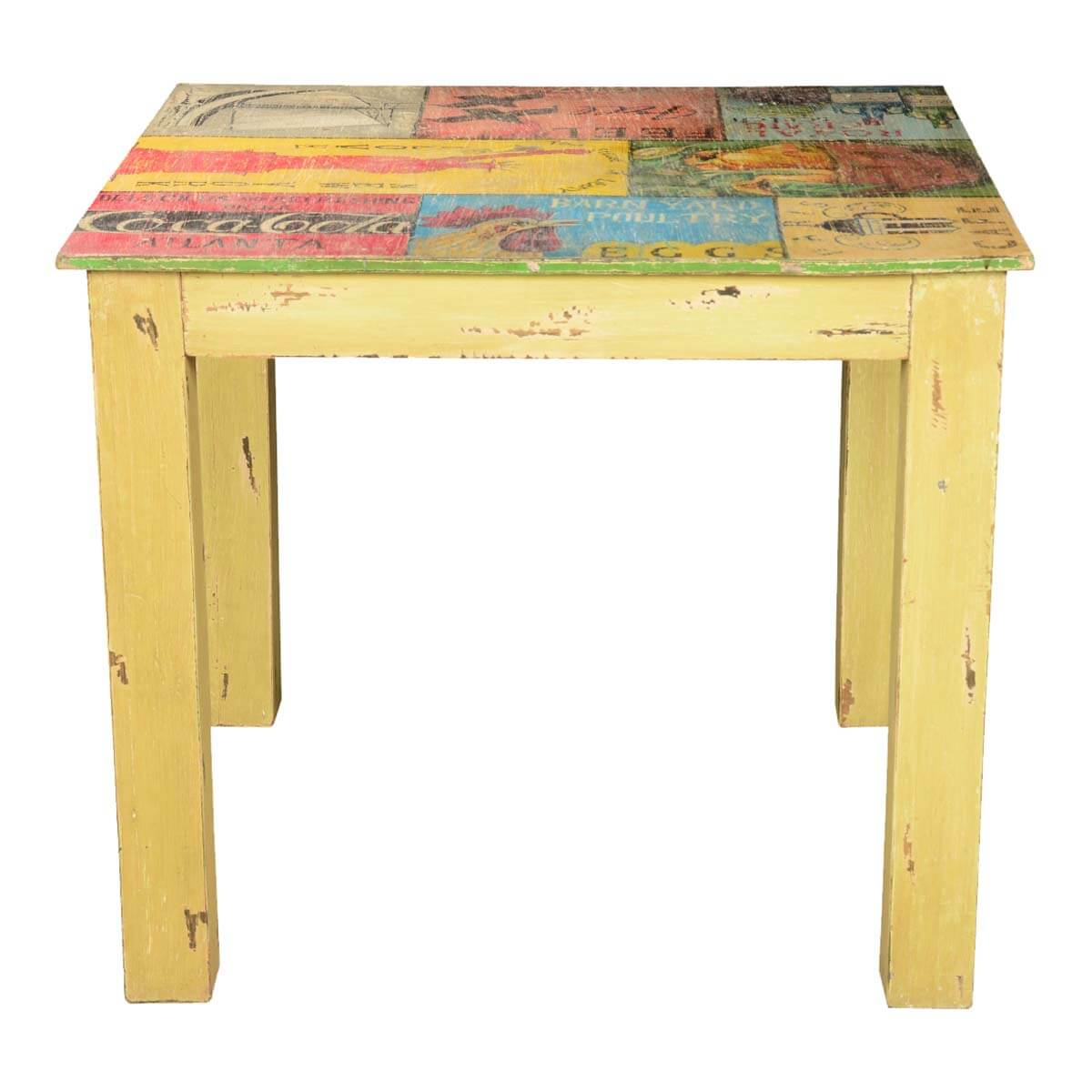 Pop Art Labels Mango Wood Yellow 35quot Square Dining Table : 69381 from www.sierralivingconcepts.com size 1200 x 1200 jpeg 102kB