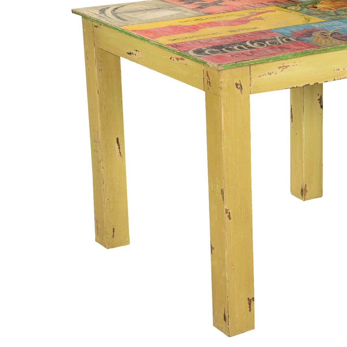 Pop Art Labels Mango Wood Yellow 35quot Square Dining Table : 69384 from www.sierralivingconcepts.com size 1200 x 1200 jpeg 96kB