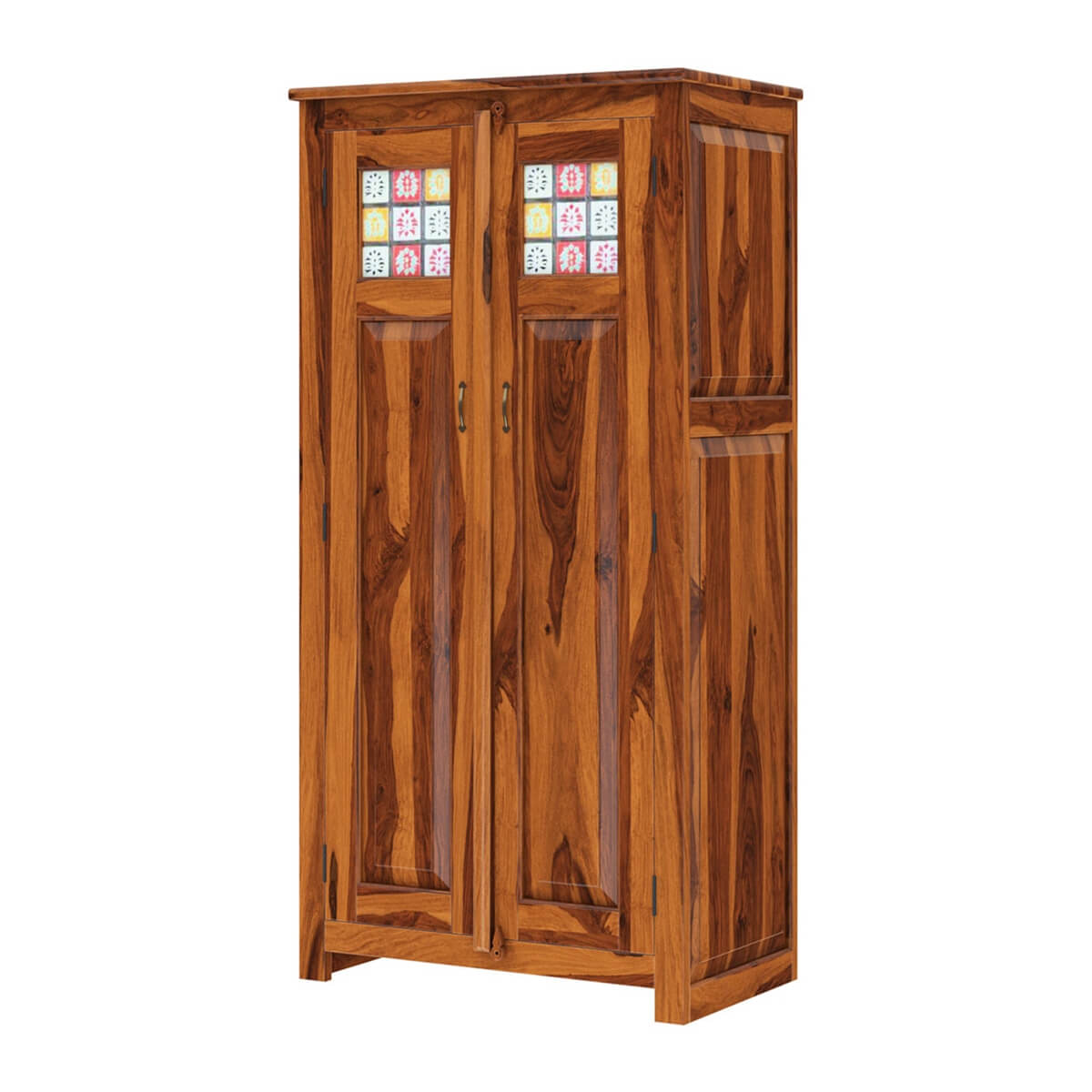 Unfinished Wood Armoire ~ Elba solid wood double door tall armoire wardrobe