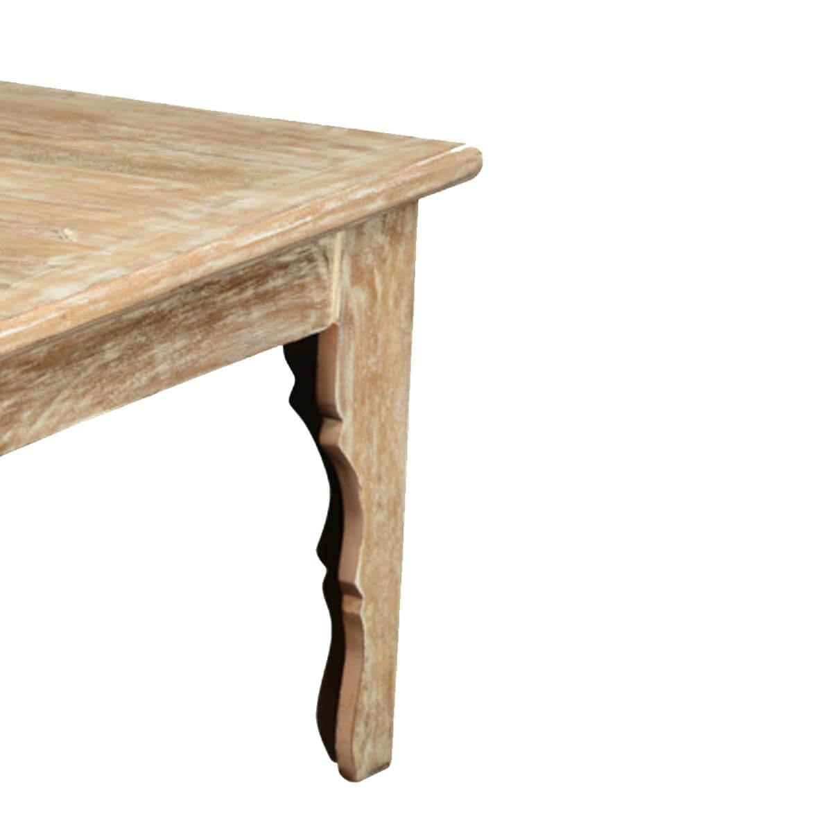 Winter white mango wood rustic coffee table White wood coffee table