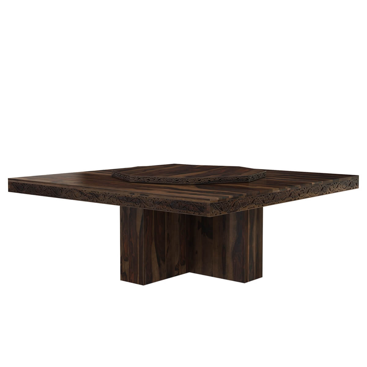 Rustic Solid Wood Large Square Pedestal Dining Table with  : 70031 from www.sierralivingconcepts.com size 1200 x 1200 jpeg 65kB