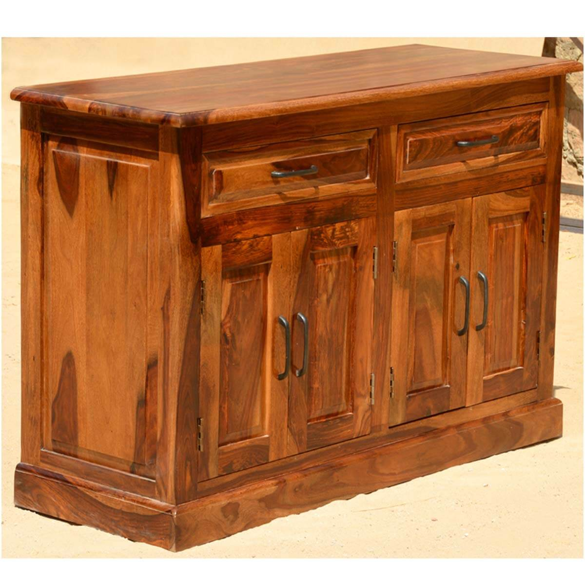 Dining Table And Buffet Set: Camelot 13p Solid Wood Dining Set Buffet Breakfront Table