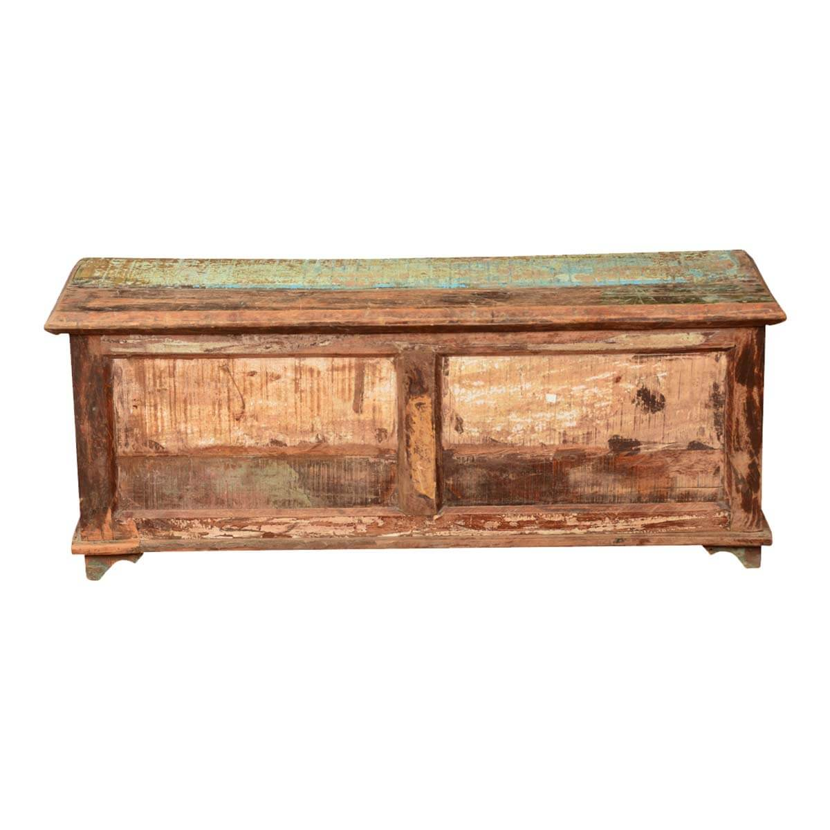 Pioneer Rustic Reclaimed Wood 46 Coffee Table Chest