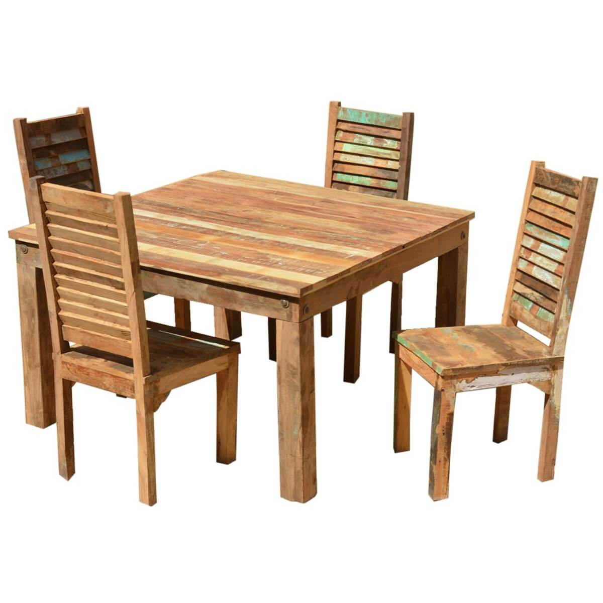 Reclaimed Wood Dining Chairs ~ Ohio reclaimed wood furniture dining table shutter back