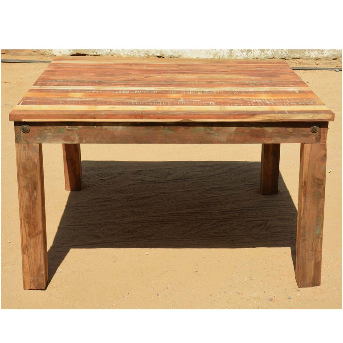Reclaimed Wood Round Pedestal Dining Table Chair Buffet