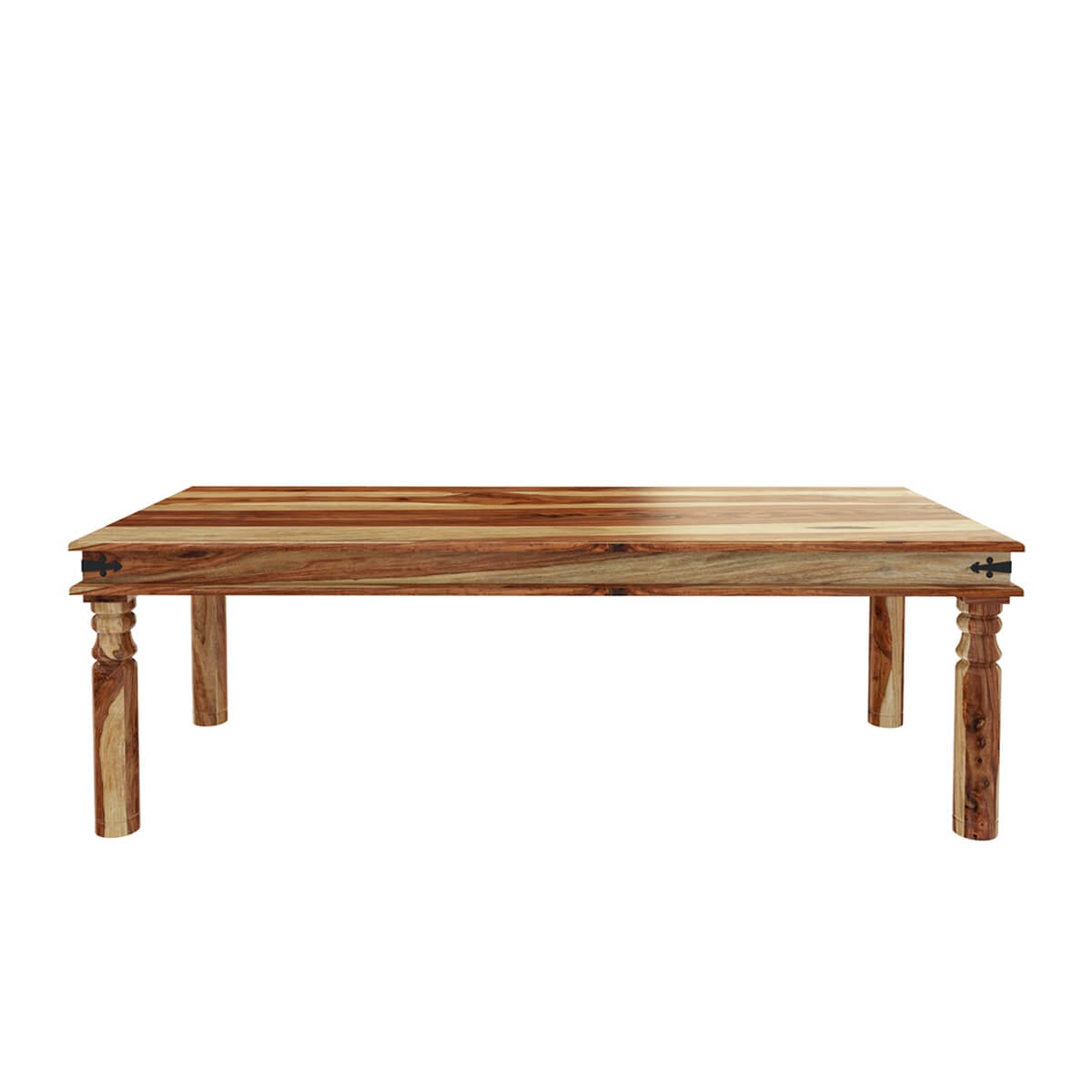 Dallas ranch large solid wood rustic dining table for Solid wood dining table