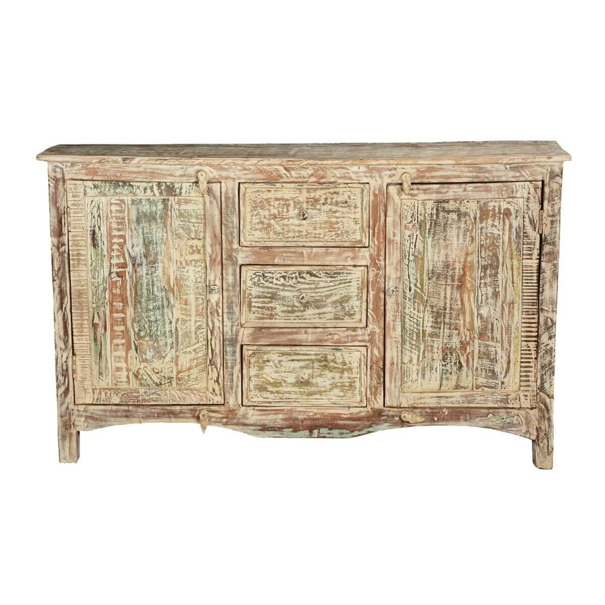 Marvelous photograph of  Breeze Antique White Mango Wood Standing Sideboard Buffet Cabinet with #A17E2A color and 1200x1200 pixels