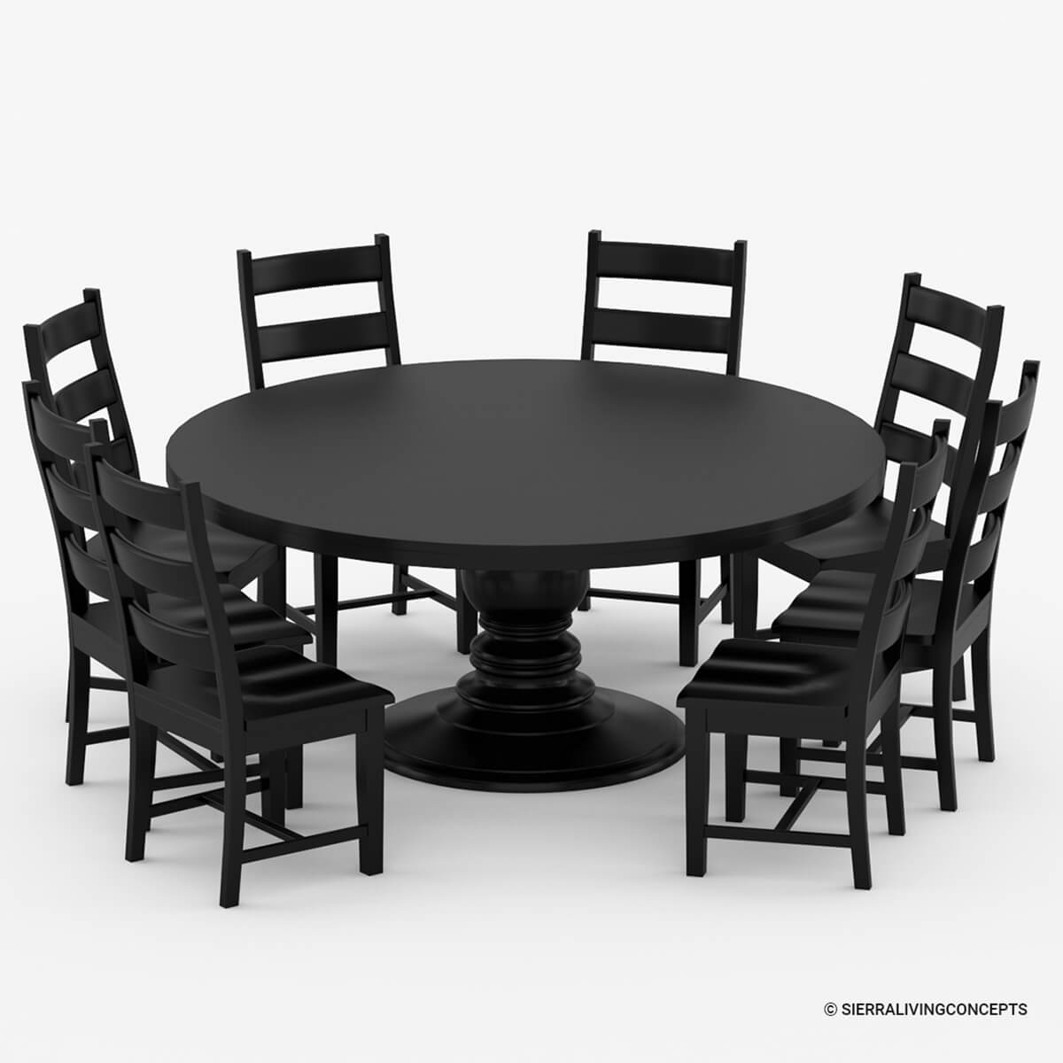 Round Black Dining Room Table