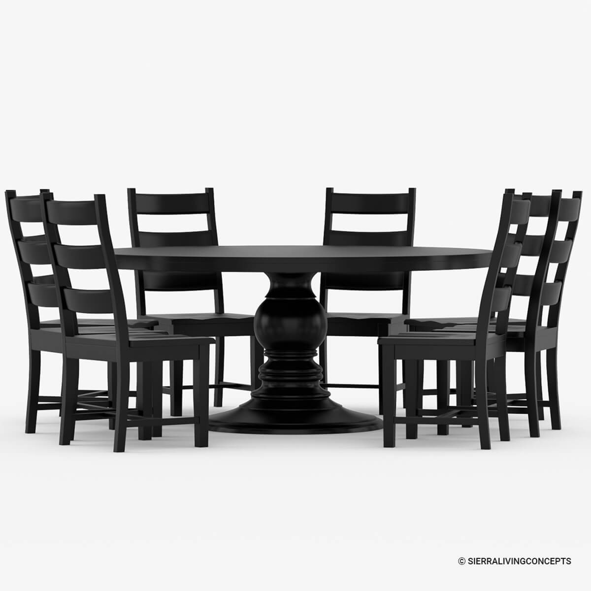 Nottingham Rustic Solid Wood Black Round Dining Room Table Set : 71193 from www.sierralivingconcepts.com size 1200 x 1200 jpeg 414kB