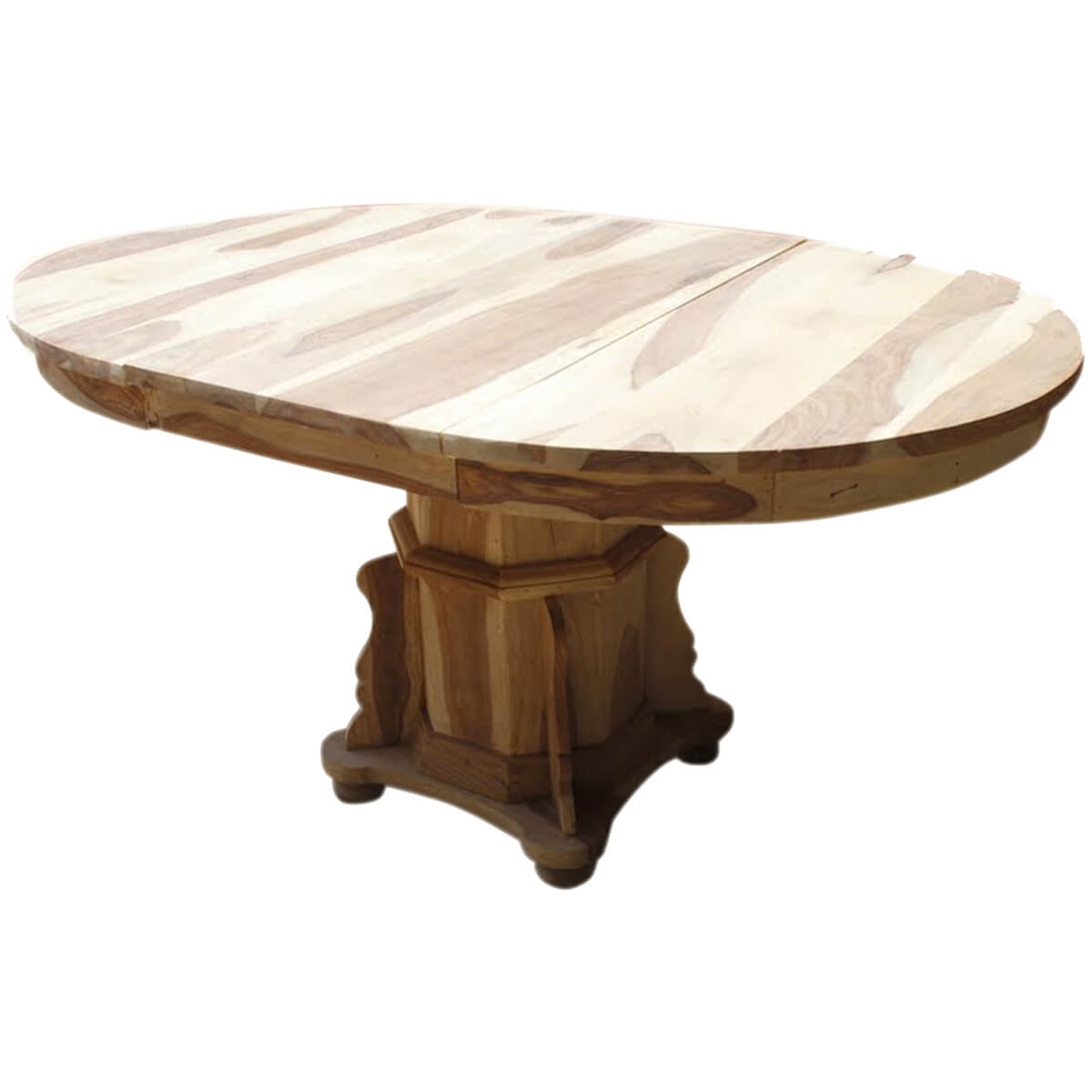 Dallas Ranch Solid Wood Pedestal Round Dining Table W
