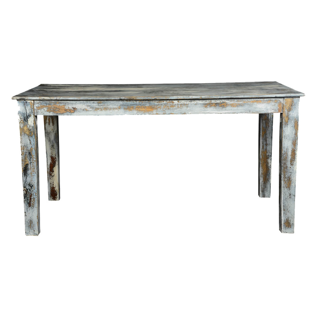 Distressed wood dining table distressed stunning for Distressed white dining table